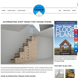 Alternating Step Tansu Tiny House Stairs - Tiny House Design