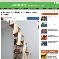 Alternating Tread Stair Saves Space, Looks Gorgeous