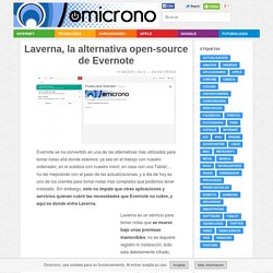 Laverna, la alternativa open-source de Evernote - Omicrono