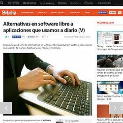 Alternativas en software libre a aplicaciones que usamos a diario (V)