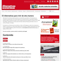 Alternativas Económicas Blog - 33 Alternativas para vivir de otra manera