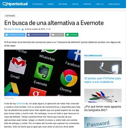 Alternativas a Evernote