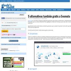 5 alternativas también gratis a Evernote