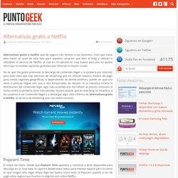 alternativas gratis a netflix