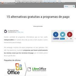 15 alternativas gratuitas a programas de pago