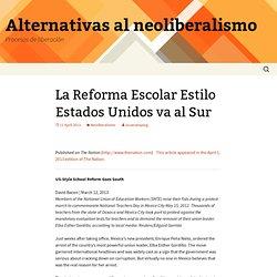 Alternativas al neoliberalismo