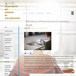 Alternativas a HP Reveal (Aurasma): Aumentaty y PlugXR
