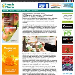 REWE prueba alternativas reutilizables al plástico en frutas y hortalizas