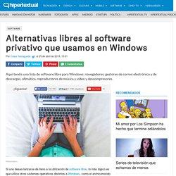 Alternativas de software libre para Windows