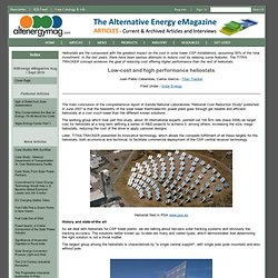 Alternative Energy eMagazine - Low-cost and high performance heliostats