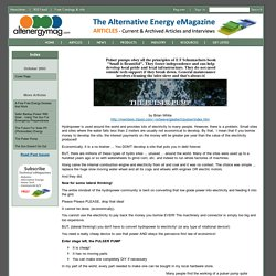 Alternative Energy eMagazine -