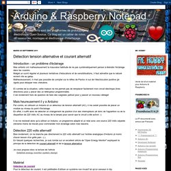 Arduino & Raspberry Notepad: Détection tension alternative et courant alternatif