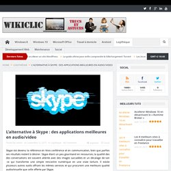 L'alternative à Skype : des applications meilleures en audio/video
