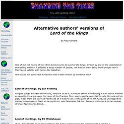 Alternative authors
