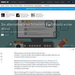 Six alternative web browsers you should know about