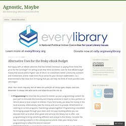 Alternative Uses for the Pesky eBook Budget