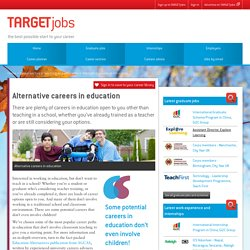 Alternative careers in education