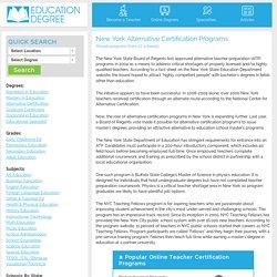 Alternative Certification Programs in New York