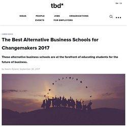 Best Alternative Business Schools for Changemakers 2017