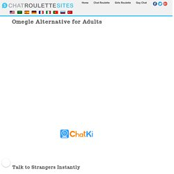 Omegle Chat Alternative - ChatrouletteSites