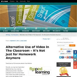 Alternative Video Use in the Flipped Classroom
