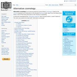 Alternative cosmology