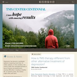 How is TMS therapy different from other alternative treatment of depression?