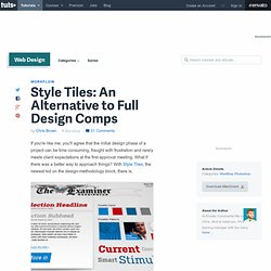 Style Tiles: An Alternative to Full Design Comps
