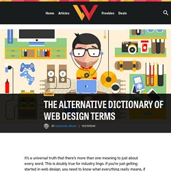 The Alternative Dictionary of Web Design Terms