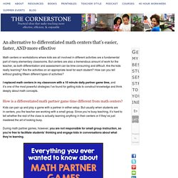 An alternative to differentiated math centers that's easier, faster, AND more effective