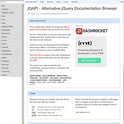 jQAPI - Alternative jQuery Documentation Browser