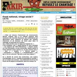 Front national, virage social? (2/3)