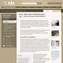 – Alternative health therapies