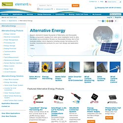 Alternative Energy | Home Solar Power Systems | Energy Scavenging | Solar LED Lighting | Solar Powered Telemetry | Solar Tracking System | Wind Turbine Pitch Control | Newark.com