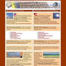ABC of Alternative Energy | Information Guide
