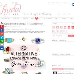 20 Diamond-Alternative Gemstones for Engagement Rings