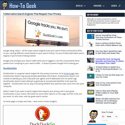 Search Engines That Don't Track