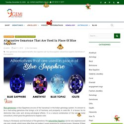 Alternative Gemstone That Are Used In Place Of Blue Sapphire