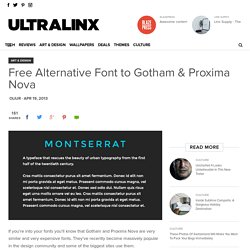 Free Alternative Font to Gotham & Proxima Nova