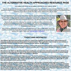 ALTERNATIVE HEALTH APPROACHES