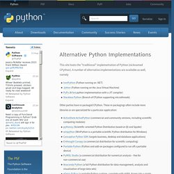 Alternative Python Implementations