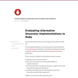 Evaluating alternative Decorator implementations in Ruby