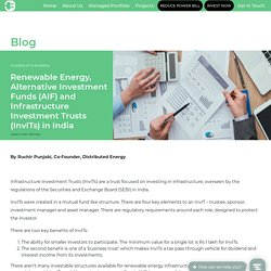 Infrastructure Investment Trusts in India