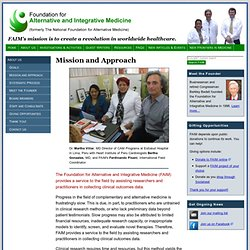 Mission | Foundation for Alternative and Integrative Medicine