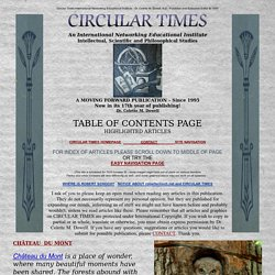 Alternative Energy Medicine International Educational Institute Circular Times
