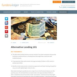 Alternative Lending 101 - Fundera Ledger