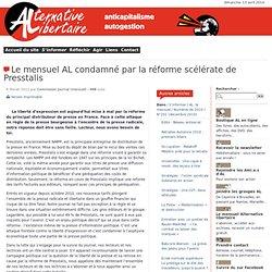 Le mensuel AL condamné par la réforme scélérate de Presstalis