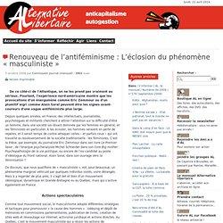 Renouveau de l'antiféminisme : L'éclosion du phénomène « masculiniste »