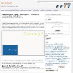 Alternative en ligne à powerpoint : slidebean (minimaliste mais bien)