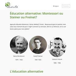 Éducation alternative: Montessori ou Steiner ou Freinet?